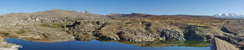 Landscape in Turkey. Panorama of Turkey and a part of Mountain Erciyes Royalty Free Stock Image