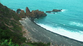 Landscape of turquoise sea stock footage