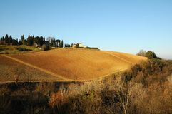 Landscape in the Tuscan Countryside in Chianti near Florence Royalty Free Stock Photos