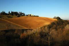 Landscape in the Tuscan Countryside in Chianti near Florence Royalty Free Stock Photography