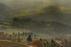 Landscape in the Tuscan Countryside in Chianti near Florence Stock Photography