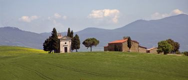 Landscape in tuscany. A nice view of italian landscape Royalty Free Stock Images
