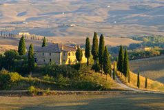 Landscape in Tuscany in autumn Royalty Free Stock Photo