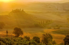 Landscape in Tuscany in autumn Royalty Free Stock Photography
