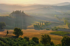Landscape in Tuscany in autumn Royalty Free Stock Images