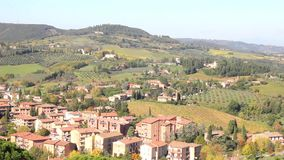 Landscape in Tuscany, Italy stock video footage