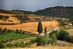 Landscape in Tuscany, Italy stock photography