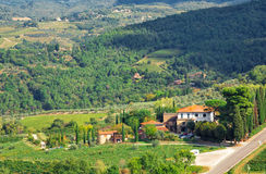 Landscape in Tuscany. Near Greve in Chianti Stock Image