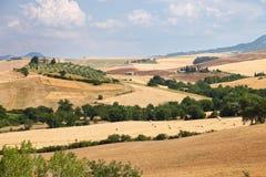 Landscape of Tuscany near Siena in Italy Stock Photos