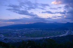 Landscape in the twilight at Seisho region, Kanagawa, Japan Royalty Free Stock Photography