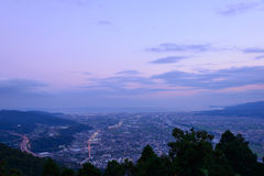 Landscape in the twilight at Seisho region, Kanagawa, Japan Stock Photos