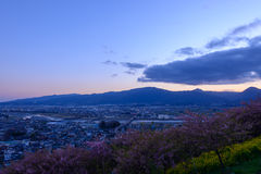 Landscape in the twilight at Seisho region, Kanagawa, Japan Stock Image