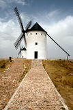 Landscape with two old windmills Stock Photography
