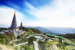 Landscape of two pagoda Royalty Free Stock Photos