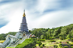 Landscape of  Two pagoda at Doi Inthanon Royalty Free Stock Photos