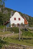 Landscape with typical house from Hungary on the mountain Badacs Stock Images