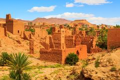 Landscape of a typical moroccan berber village Stock Photography