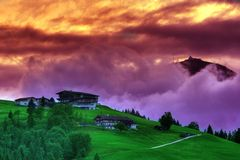 Landscape from Tyrol. Beautiful landscape in Tyrol, Austria Royalty Free Stock Image