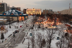 Landscape of Tyumen at night Royalty Free Stock Photography
