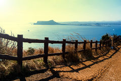 Landscape of Udo island in Jeju Island, South Korea Royalty Free Stock Photo