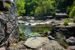 Landscape of Ukrainian canyon in Buki Stock Photos