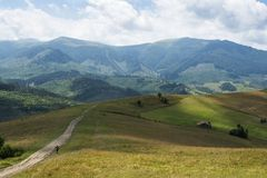 Landscape in the Ukrainian Carpathians Royalty Free Stock Photos
