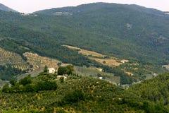 Landscape in Umbria near Foligno Stock Image