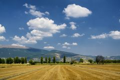 Landscape in Umbria between Spello and Perugia Royalty Free Stock Photos