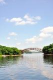 The landscape under blue sky stock photo