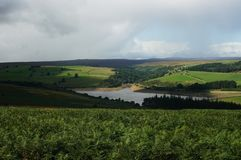 Landscape under clouds in Yorkshire royalty free stock image