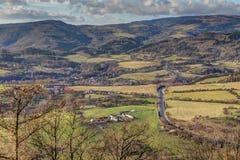 Landscape under hills Royalty Free Stock Image