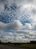 Landscape under morning sky with clouds Royalty Free Stock Photos