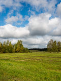 Landscape under morning sky with clouds Royalty Free Stock Image