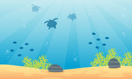 Landscape underwater with fish and coral reef. Collection Royalty Free Stock Photos