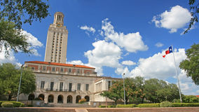 Landscape of  University of Texas (UT) building Stock Photography