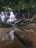 Landscape unseen Thailand waterfall nature view. Environment waterfall nature view somewhere in forest and Asia summer stock photos