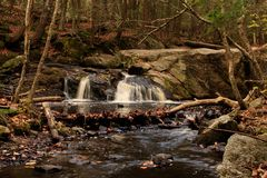 Upper tier of Enders Falls in Enders State Forest Royalty Free Stock Images