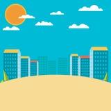 landscape urban Επίπεδο σχέδιο Στοκ φωτογραφία με δικαίωμα ελεύθερης χρήσης
