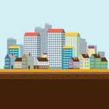 landscape urban επίσης corel σύρετε το διάνυσμα απεικόνισης Στοκ εικόνες με δικαίωμα ελεύθερης χρήσης