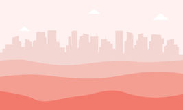 Landscape urban city and desert vector Royalty Free Stock Image