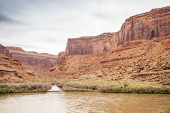 Landscape of Utah, Colorado River and red rocks Stock Image