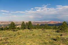Landscape in Utah, green and orange Stock Photo