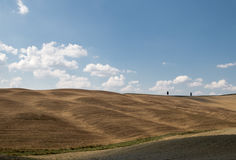 Landscape of val d orcia stock photos