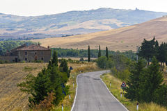 Landscape in Val d'Orcia (Tuscany) Royalty Free Stock Images