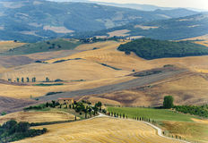 Landscape in Val d'Orcia (Tuscany) Royalty Free Stock Photos