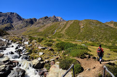 Landscape in val senales, south tyrol italy Royalty Free Stock Image