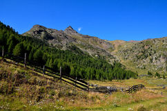 Landscape in val senales, south tyrol italy Royalty Free Stock Photos