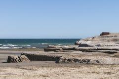 Landscape in the Valdes Peninsula stock photo