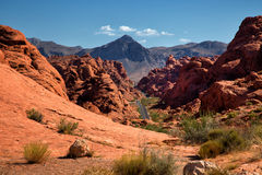 Valley of fire in United States Royalty Free Stock Images