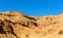 Landscape of the Valley of the Kings Royalty Free Stock Image